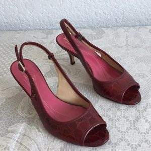 Kate spade burgundy patent leather sandals